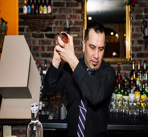 Our Mixologist at work